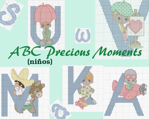 Esquema de Abecedario Precious Moments (niños)