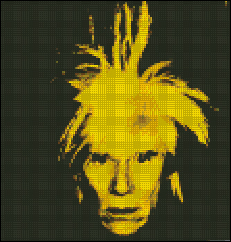 Esquema de Andy Warhol en Punto de Cruz (1)