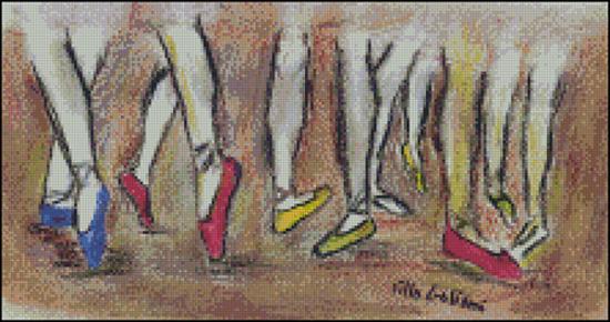 Esquema de Bailarinas en Punto de Cruz (9)