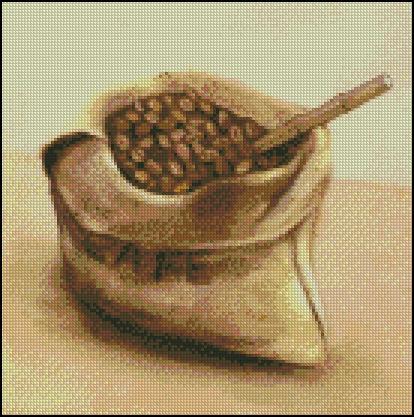 Esquema de Cuadros sobre Café en Punto de Cruz (1)