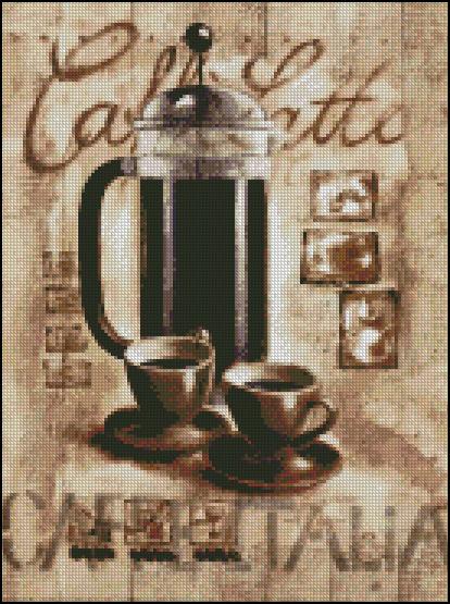 Esquema de Cuadros sobre Café en Punto de Cruz (11)