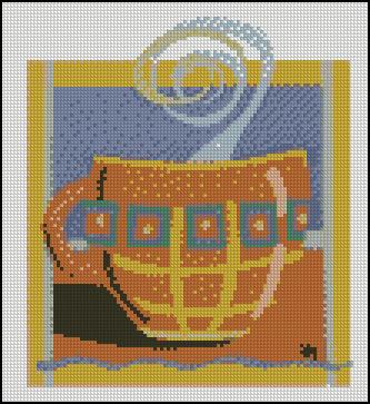 Esquema de Cuadros sobre Café en Punto de Cruz (14)