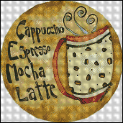 Esquema de Cuadros sobre Café en Punto de Cruz (16)