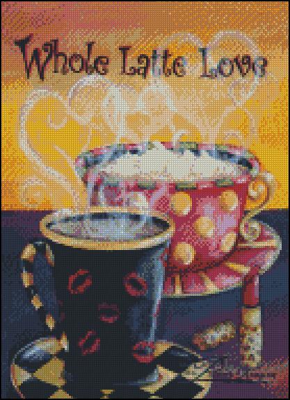 Esquema de Cuadros sobre Café en Punto de Cruz (19)