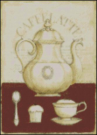 Esquema de Cuadros sobre Café en Punto de Cruz (2)