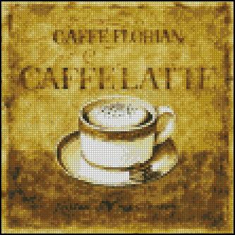 Esquema de Cuadros sobre Café en Punto de Cruz (5)