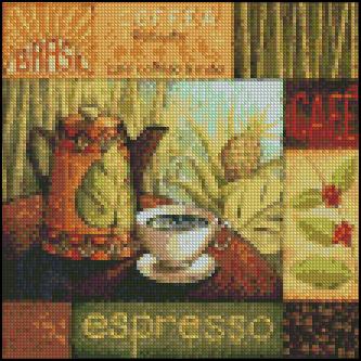 Esquema de Cuadros sobre Café en Punto de Cruz (6)