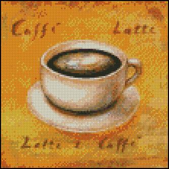 Esquema de Cuadros sobre Café en Punto de Cruz (8)