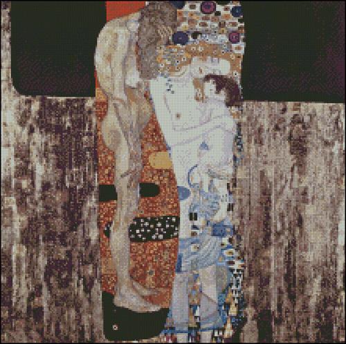 Esquema de Cuadros de Klimt en Punto de Cruz (1)