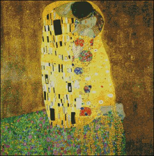 Esquema de Cuadros de Klimt en Punto de Cruz (3)