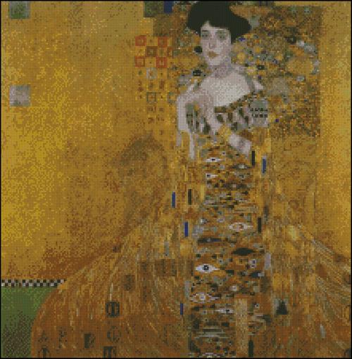 Esquema de Cuadros de Klimt en Punto de Cruz (5)