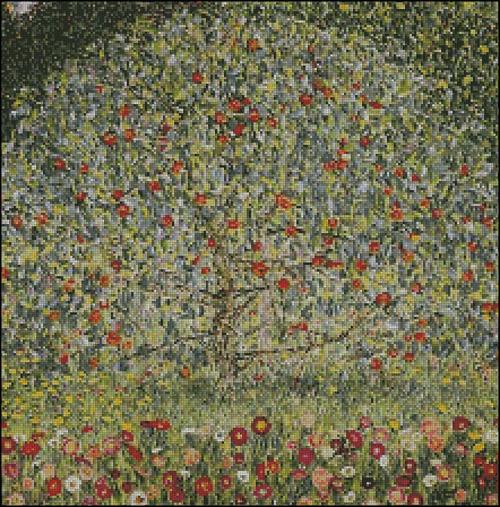 Esquema de Cuadros de Klimt en Punto de Cruz (6)