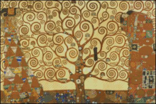 Esquema de Cuadros de Klimt en Punto de Cruz (7)
