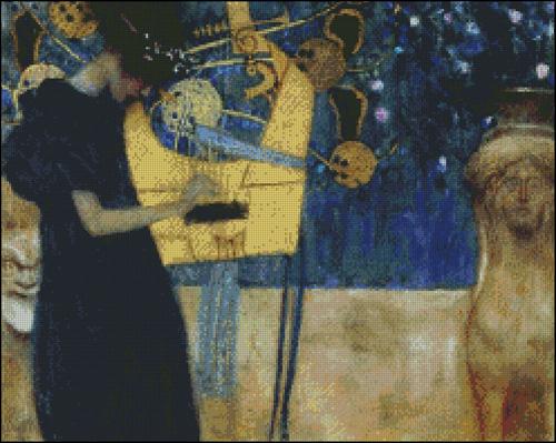Esquema de Cuadros de Klimt en Punto de Cruz