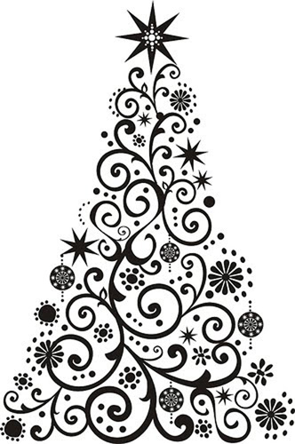 Esquema de Siluetas de Árbol de Navidad (1)