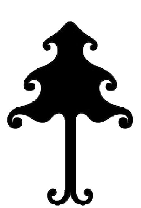 Esquema de Siluetas de Árbol de Navidad