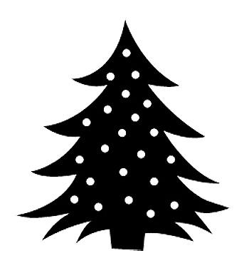 Esquema de Siluetas de Árbol de Navidad (4)