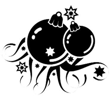 Esquema de Siluetas de Bolas de Navidad (1)