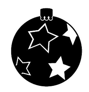 Esquema de Siluetas de Bolas de Navidad