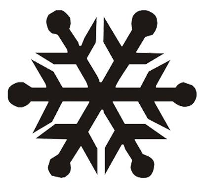Esquema de Silueta de Copo de Nieve (1)