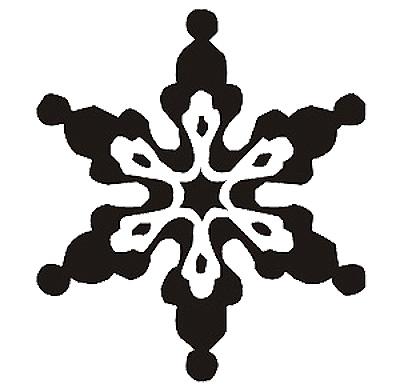 Esquema de Silueta de Copo de Nieve (2)