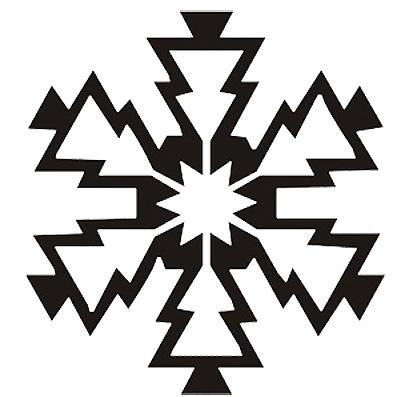 Esquema de Silueta de Copo de Nieve (3)
