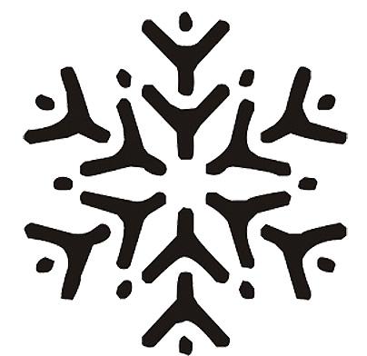 Esquema de Silueta de Copo de Nieve (4)