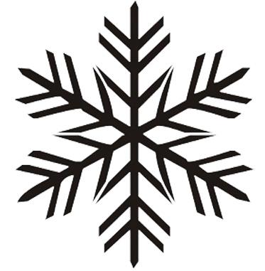 Esquema de Siluetas de Copo de Nieve