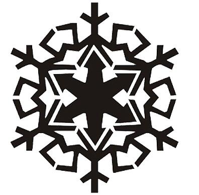 Esquema de Silueta de Copo de Nieve (7)
