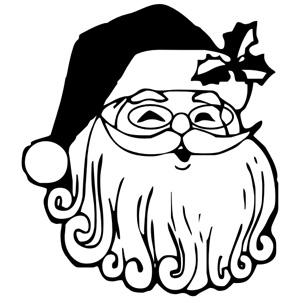 Esquema de Siluetas de Papa Noel