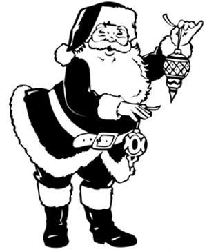Esquema de Silueta de Papa Noel (2)