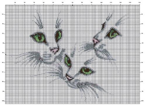 Esquema de Siluetas de Gatos (4)