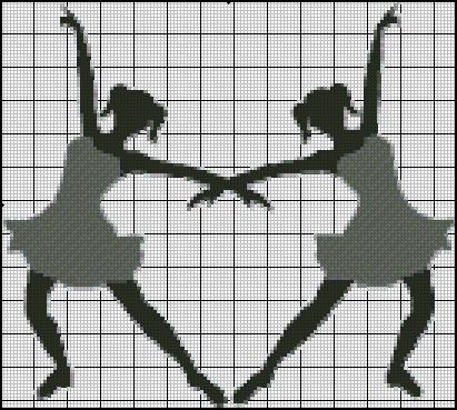 Esquema de Siluetas de Bailarinas