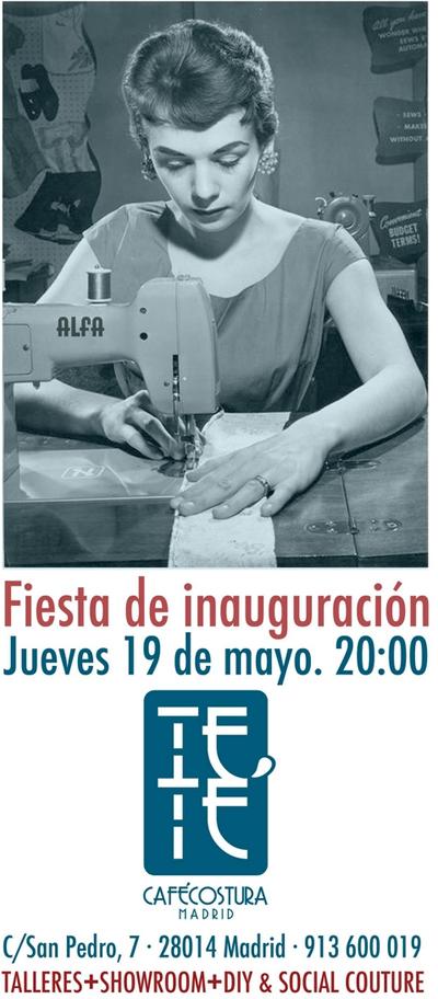 Aprende a coser en el Teté Café Costura (Madrid)