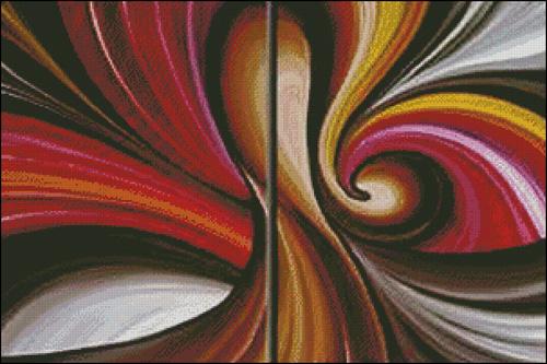 Cuadros abstractos hilos para bordar dmc rosace for Fotos de cuadros abstractos minimalistas