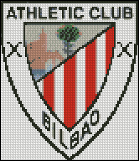 Esquema del Athletic Club de Bilbao en Punto de Cruz