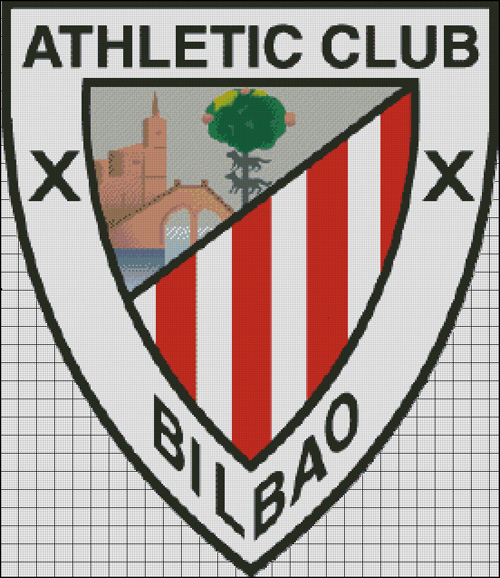 Esquema del Athletic Club de Bilbao en Punto de Cruz (4)