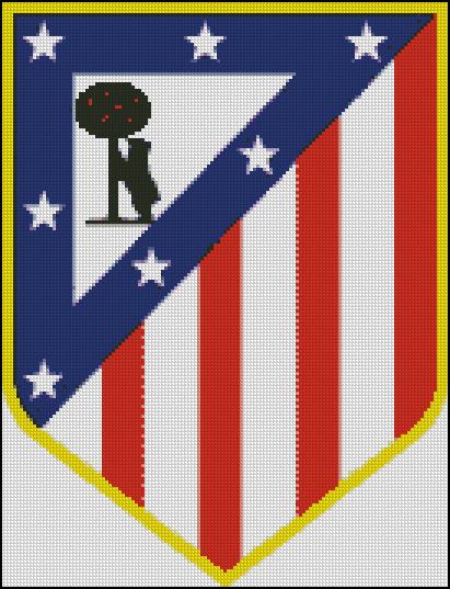Esquema del Atlético de Madrid en Punto de Cruz (1)