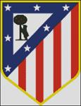 Esquemas del Atlético de Madrid en Punto de Cruz