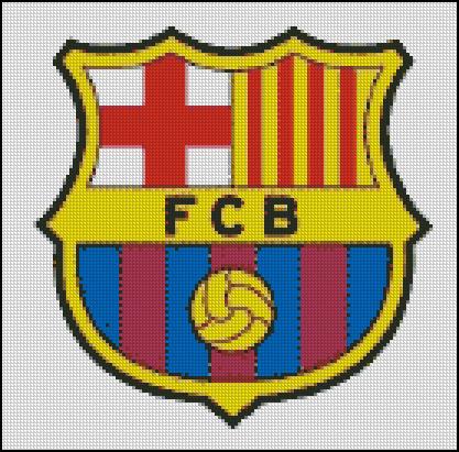 Esquema del Barcelona en Punto de Cruz