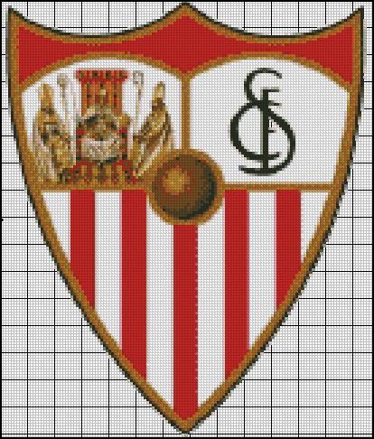 Esquema del Sevilla en Punto de Cruz