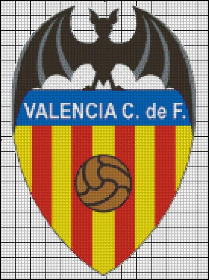 Esquema del Valencia en Punto de Cruz (1)