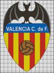 Esquemas del Valencia CF en Punto de Cruz